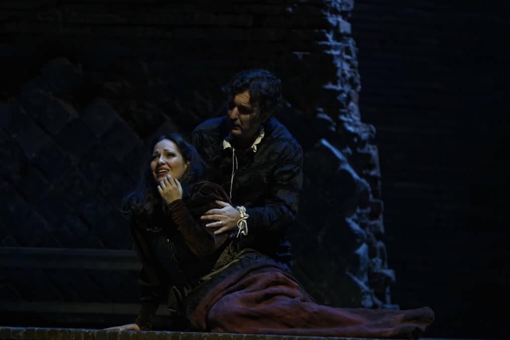 Nino Machaidze (Gilda), Ludovic Tézier (Rigoletto) © Patrice Nin