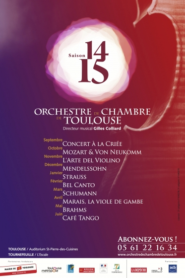 Orchestre de Chambre de Toulouse - saison 14/15