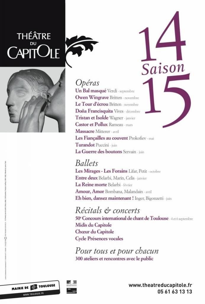 Théâtre du Capitole - saison 14/15