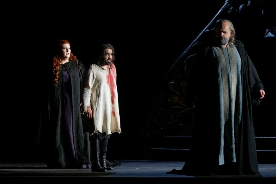 Tamara Wilson (Lucrezia), Aquiles Machado (Jacopo Foscari), Sebastian Catana (Francesco Foscari)