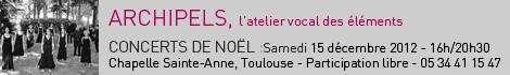 Le Chœur Archipels, atelier vocal du choeur de chambre les éléments, sous la direction de Joël Suhubiette, participera à la saison de l'OCT