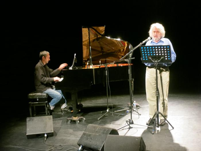 Philippe Berthaut, lecture et chant, et Philippe Gelda piano