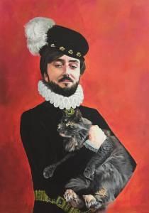 C Bourdeau Portrait avec Chat