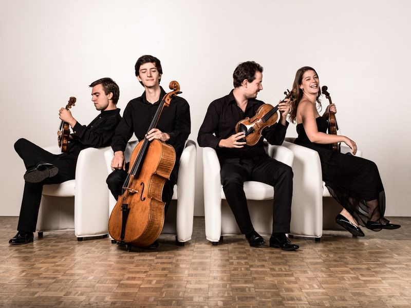 Les membres du Quatuor Cavatine - Photo François Séchet -