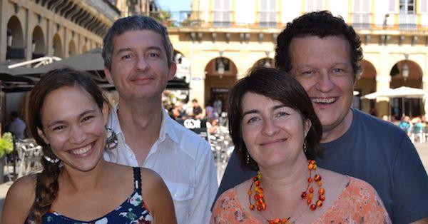Le quatuor familial réunit ici , de gauche à droite : Anne-Laure Cornet et Xavier Gil, violons, Juliette Gil, alto et Pierre Gil, violoncelle - Photo Clefs de Saint-Pierre -