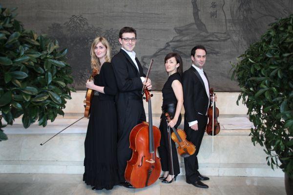 Les membres du quatuor à cordes de ce concert d'ouverture