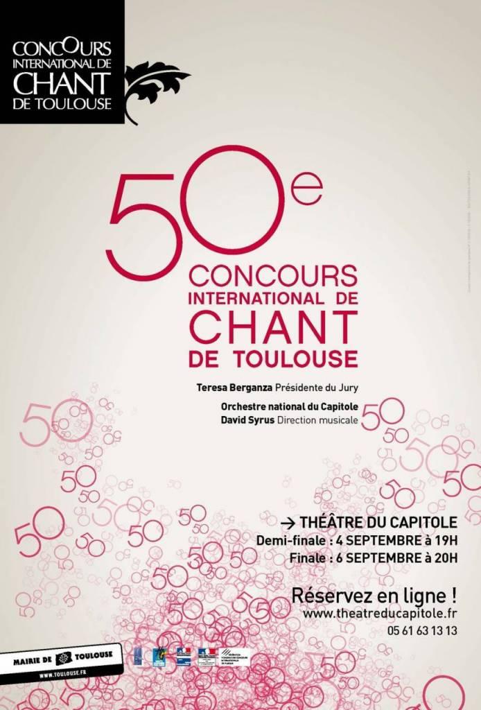 Concours international de Chant de la ville de Toulouse : Cinquantième édition
