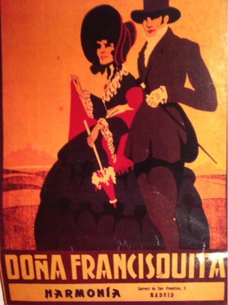 Affiche de la création de Doña Francisquita