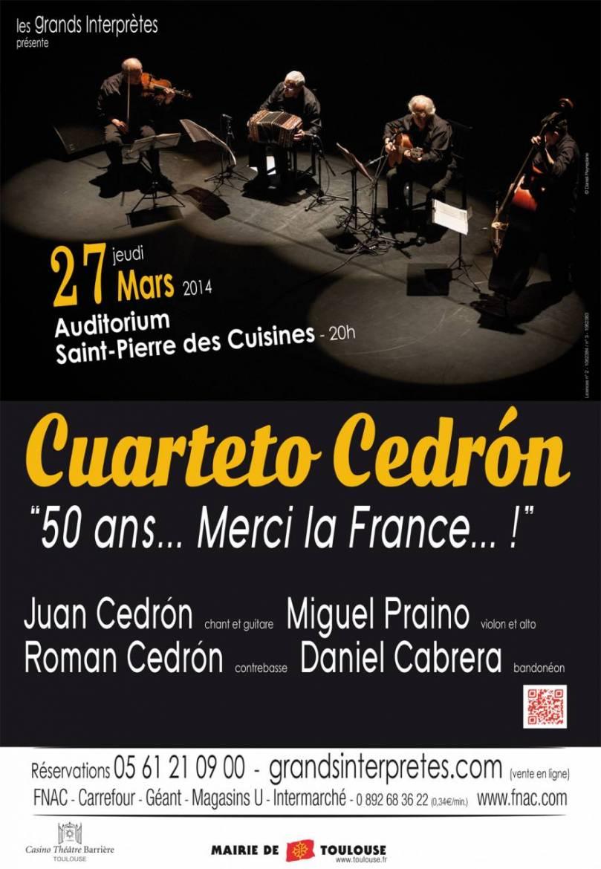 Les musiciens du mythique Cuarteto Cedrón