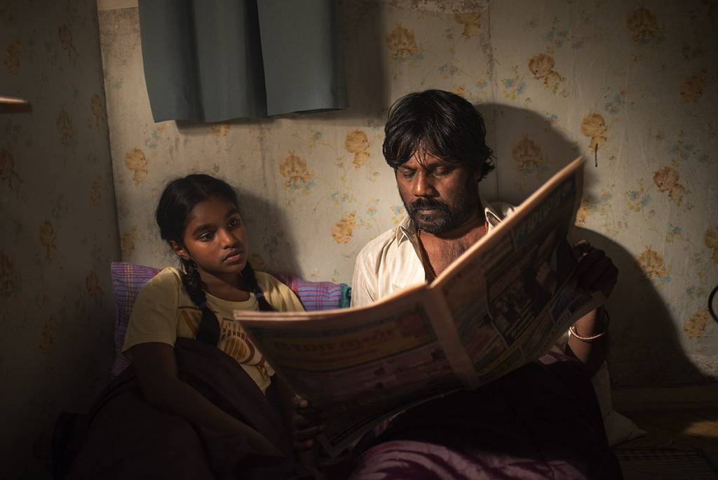 « Dheepan », un film de Jacques Audiard - Claudine Vinasithamby  (Illayaal) et Anthonythasan  Jesuthasan (Dheepan)