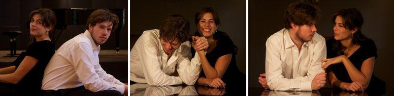 Le Duo Solot : Stéphanie Salmin et Pierre Solot, piano à quatre mains