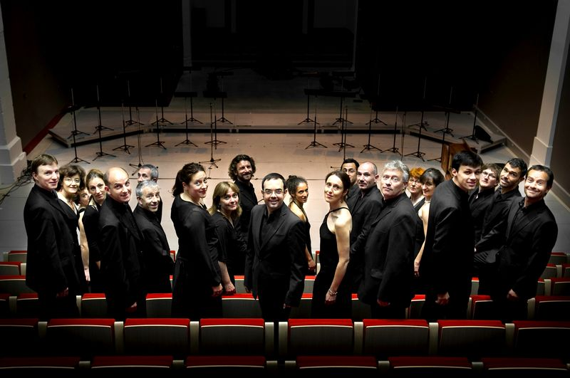 Le chœur de chambre les éléments, chef de chœur Joël Suhubiette
