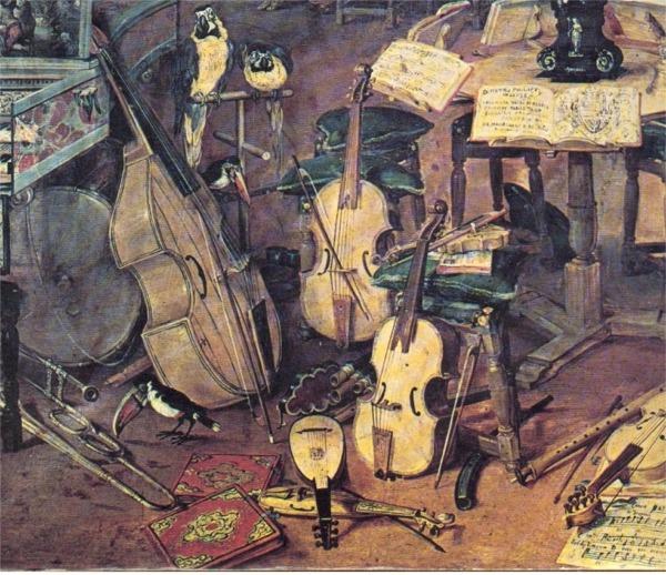 Détail du tableau Le sens de l'Ouïe de Jean Breughel L'Ancien 1617