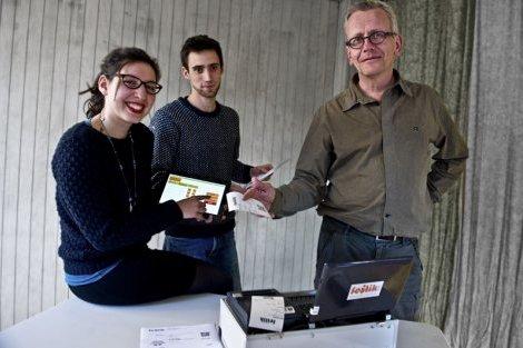 Marie Charlotte De Prada, Antoine Durozoi et Etienne Kemlin, composent l'équipe toulousaine de Festik ©  Hélène Ressayres - ToulÉco.