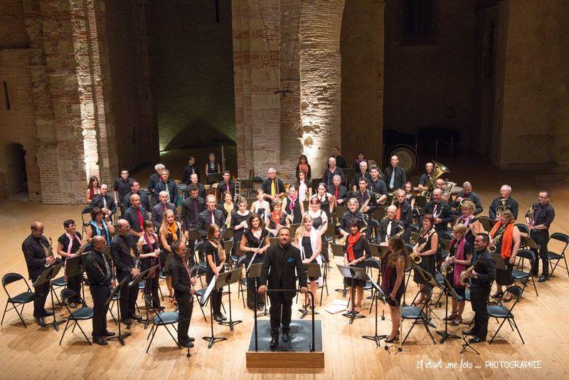 L'Orchestre d'Harmonie de Quint-Fonsegrives, dirigé par David Minetti
