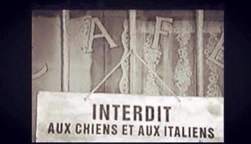interdit aux italiens