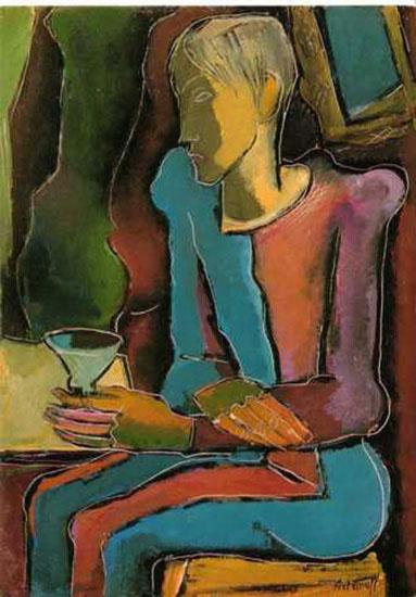 Georges Artemoff  - Le buveur, 1953