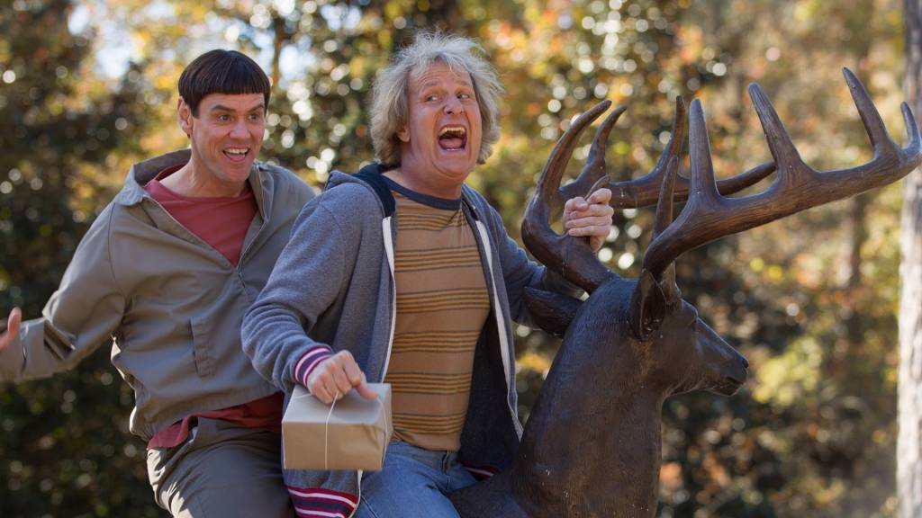Dumb & Dumber De de Peter et Bobby Farrelly avec Jim Carrey et Jeff Daniels,