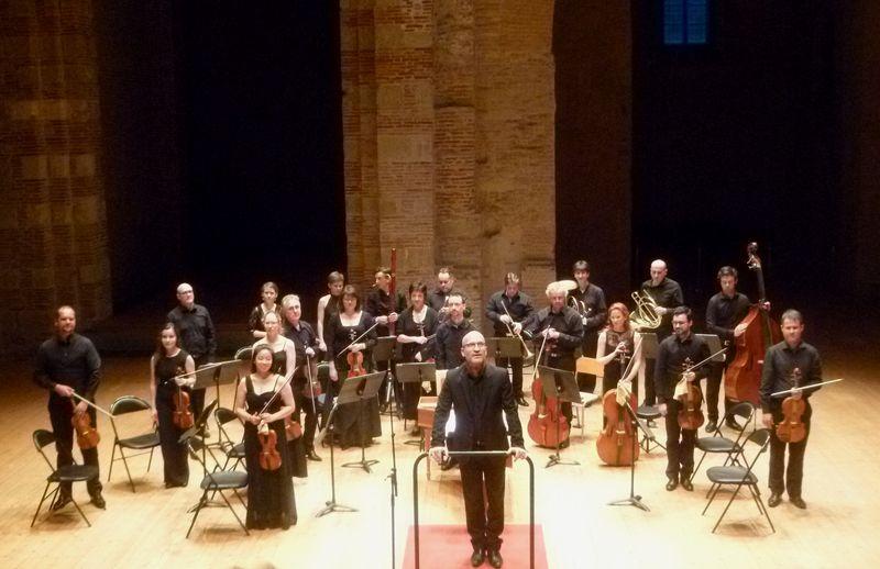 L'Orchestre de Chambre de Toulouse et Gilles Colliard lors d'un précédent concert à l'auditorium Saint-Pierre des Cuisines - Photo Classictoulouse -