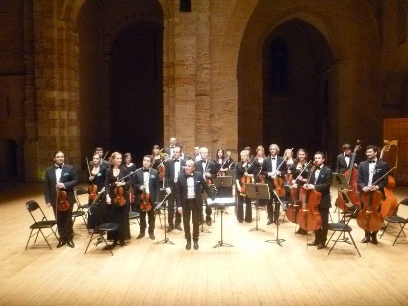 L'Orchestre Mozart Toulouse Midi-Pyrénées lors d'un précédent concert à l'auditorium  Saint-Pierre des Cuisines - Photo Classictoulouse -