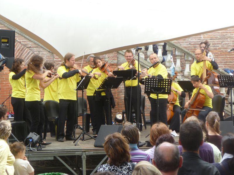 """L'Ensemble Baroque lors de l'ouverture de """"Passe ton Bach d'abord !"""" 2012 - Photo Classictoulouse -"""