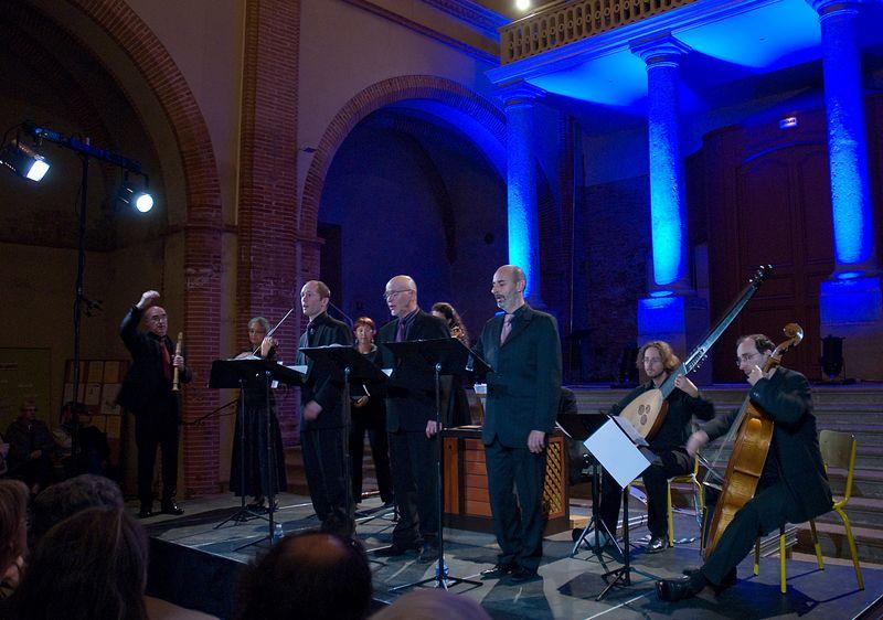 Jean-Manuel Candenot (à droite au premier rang) et l'Orchestre Les Passions au cours d'un précédent concert - Photo Jean-Jacques Ader -