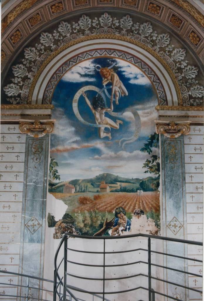 peinture murale et abside apres restauration PRiou 1996