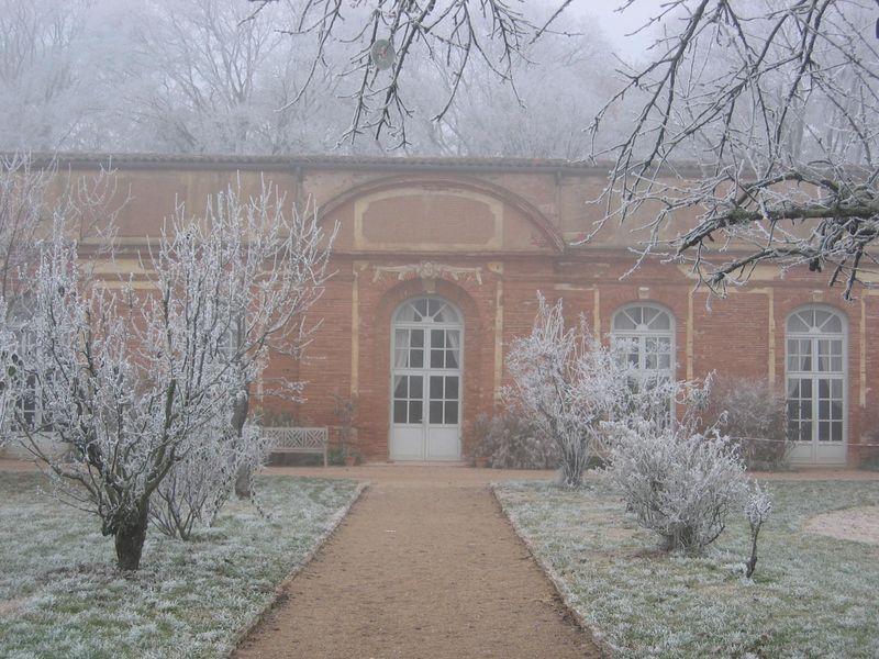 L'Orangerie de Rochemontès sous la neige