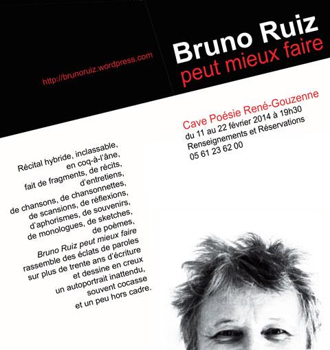 Bruno RUIZ peut mieux faire