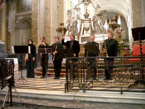 Les Sacqueboutiers : une partie des musiciens participant au concert du 20 février - Photo Classictoulouse -