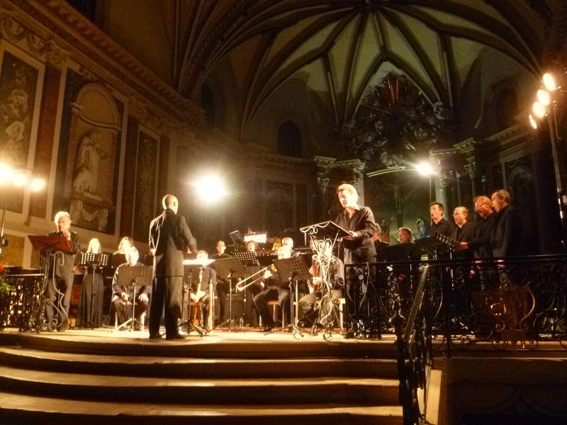 Les ensembles Les Sacqueboutiers, Scandicus et Quinte et Sens lors de la création de  La Chanson de la Croisade - Photo Classictoulouse -