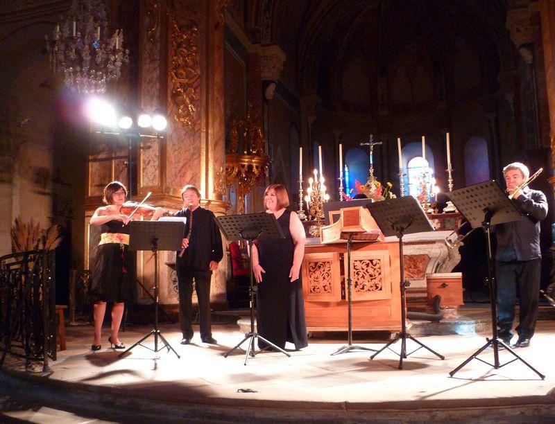 L'ensemble de cuivres anciens de Toulouse Les Sacqueboutiers et la soprano Adriana Fernandez - Photo Classictoulouse -