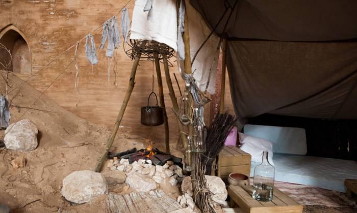 Des campements sont recréés, pour prolongement cette mise en situation sensorielle.