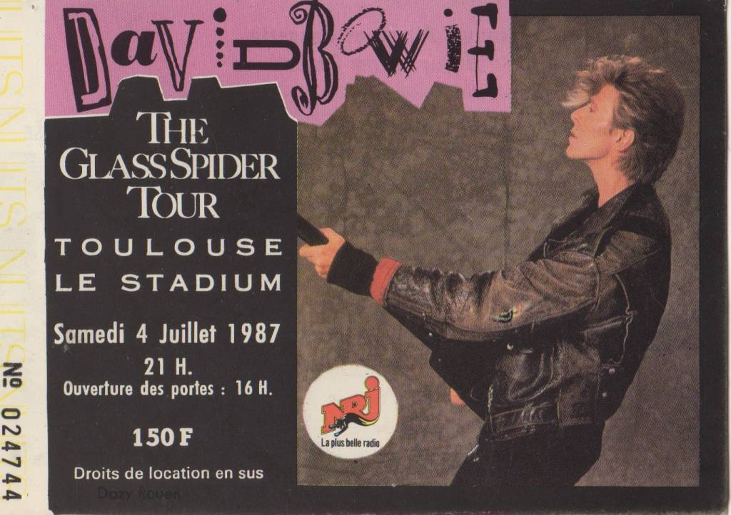 Ticket bowie greg 87