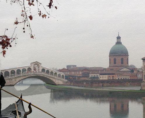 Le pont du Rialto qui enjambe la Garonne ! - Photo montage Stéphane Canihac -