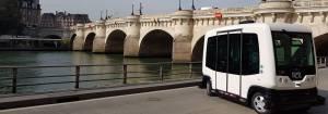 Un design aussi singulier que le projet de ces bus autonomes.